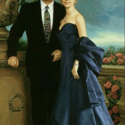 Portrety olejne - efekt HD - portret ślubny
