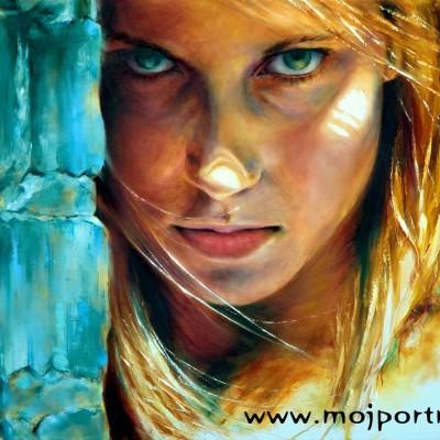 Portret olejny premium - efekt swiatla