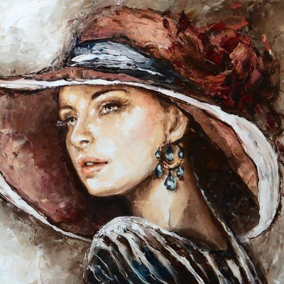portret akrylowy - stylizowany