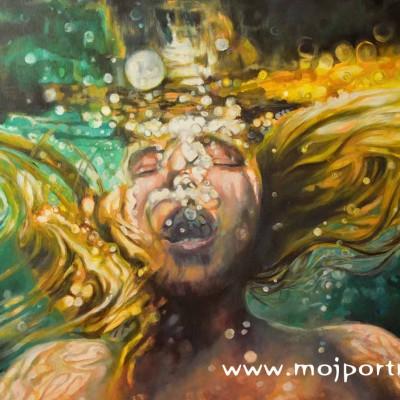 portret akrylowy - abstrakcyjny