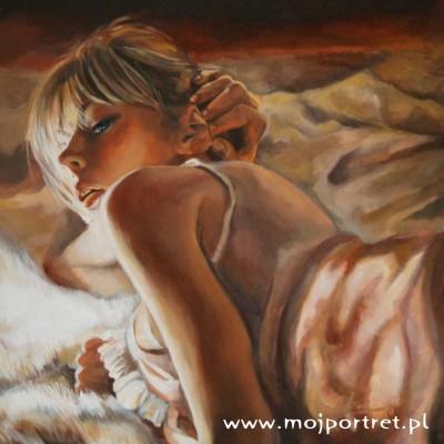 portret akrylowy