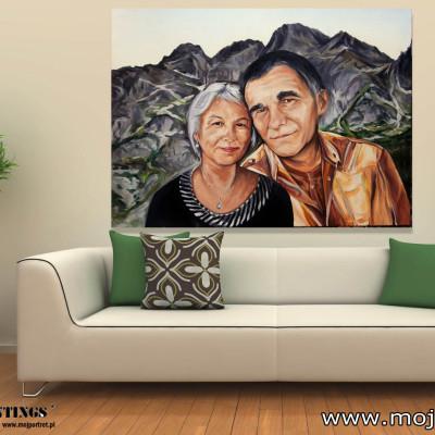 portrety olejne - portret slubny