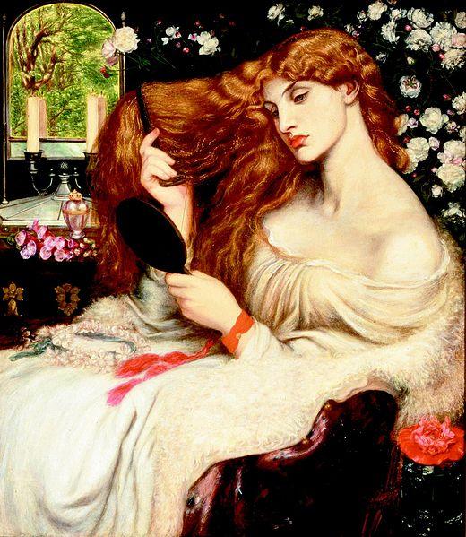 "Portrety historia - ""Lady Lilith"" D.G.Rossetti, 1864"