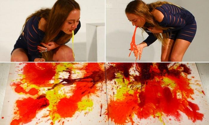 Maluje wymiotując ! Sprzedaje obrazy za 7000 PLN !