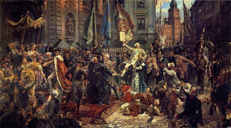 obraz Jan Matejko Konstutucj trzeci maj