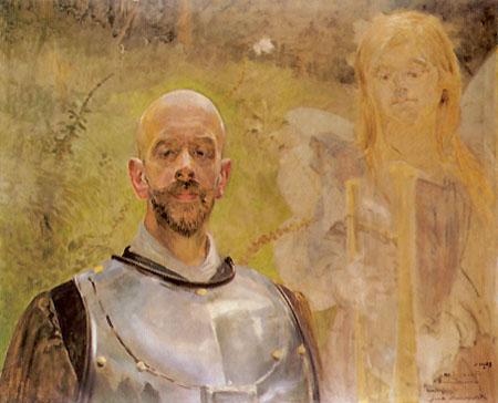 Autoportret w zbroi - Jacek Malczewski 1908 r.