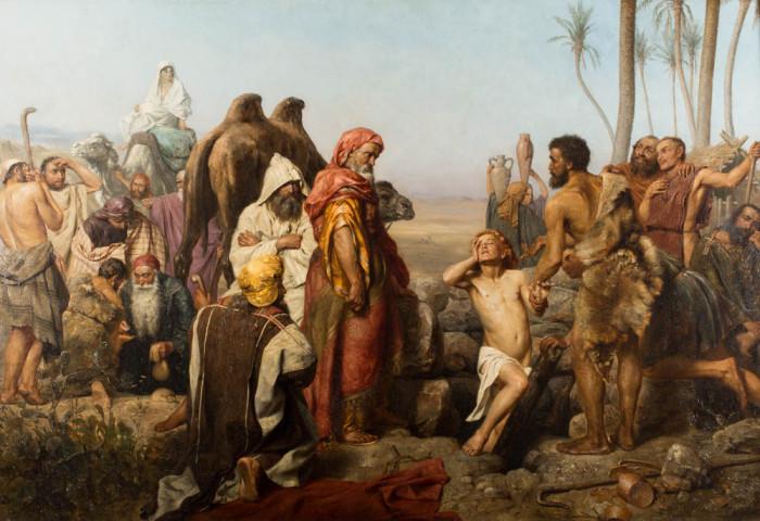 Józef sprzedany przez braci -  Zygmunt Sokołowski 1883 r