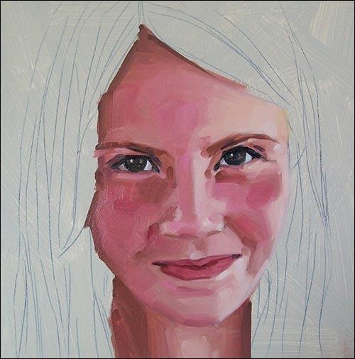 Jak namalowa twarz portret ze zdj cia krok po kroku for How to paint a portrait in watercolor