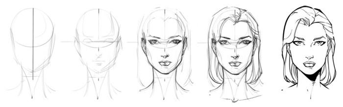 szkicowanie twarzy