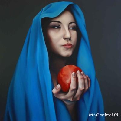 Portret olejny dziewczyny