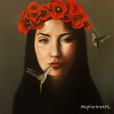 obraz olejny kobiety surrealistyczny