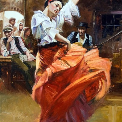 Portret tancerki - obraz olejny w jakości premium