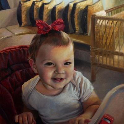 portret olejny dziewczynki