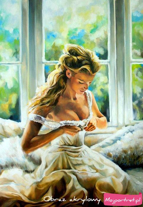 Akt kochanki - akt kobiety - zmysłowy obraz nagiej kobiety
