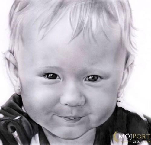 Portret-malego-dziecka-olowkiem