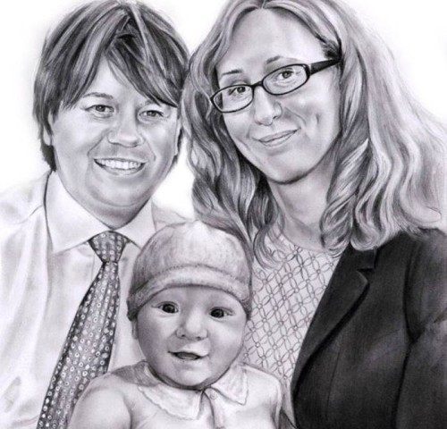 Portret-rodzina-olowek