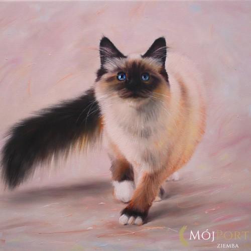 kotek-czarno-bezowy-obraz-olejny