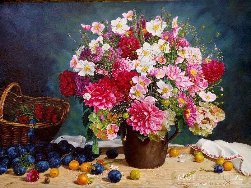 Chłodny Martwa natura i kwiaty | Mojportret.pl QP86