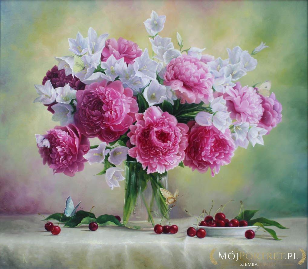 Ogromny Martwa natura i kwiaty | Mojportret.pl DI14