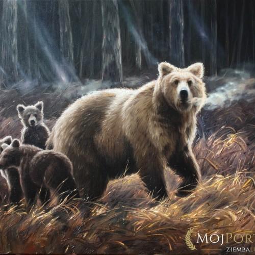 niedzwiedzie-rodzina-obraz-olejny-60х90