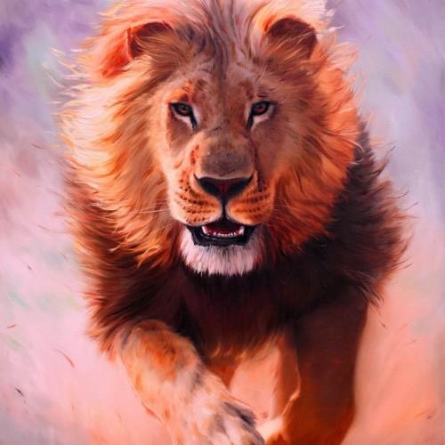 obraz-lwa-malarstwo