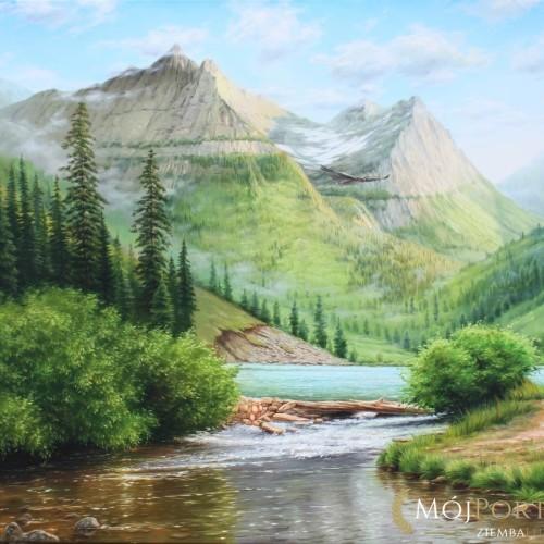 obraz-pejzaz-gory-rzeka-100х140