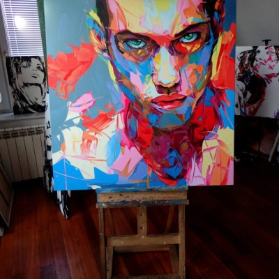 portret-abstrakcja-kolorowy