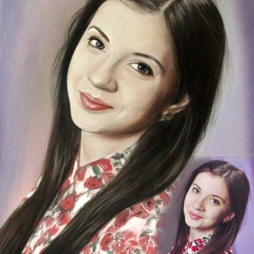 Portret realistyczny dziewczyna olej