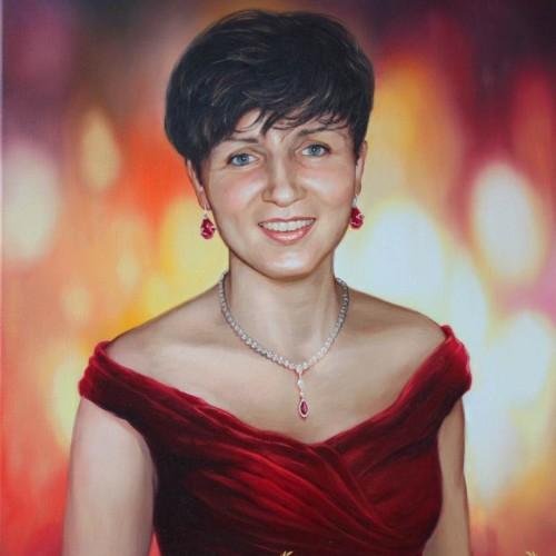 portret-olejny-żona
