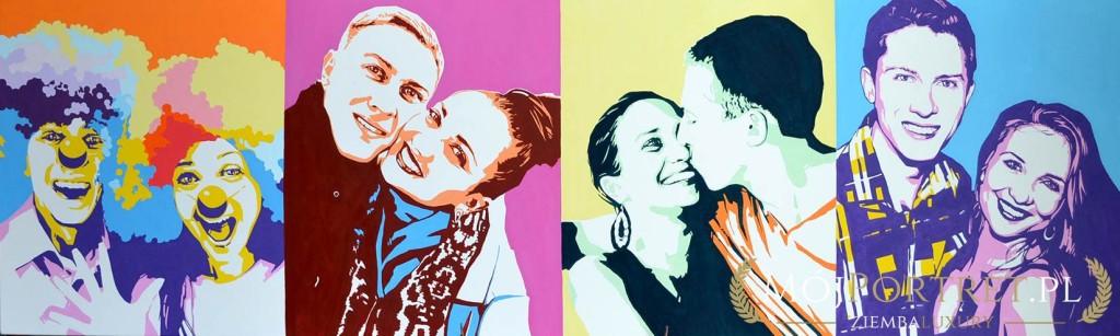 Duży nowowczesny obraz portret pop-art