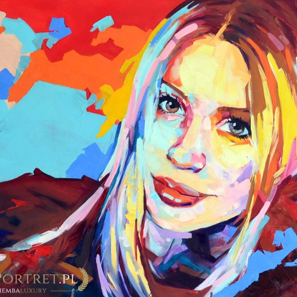 portret abstrakcyjny kobiety akryl na płótnie
