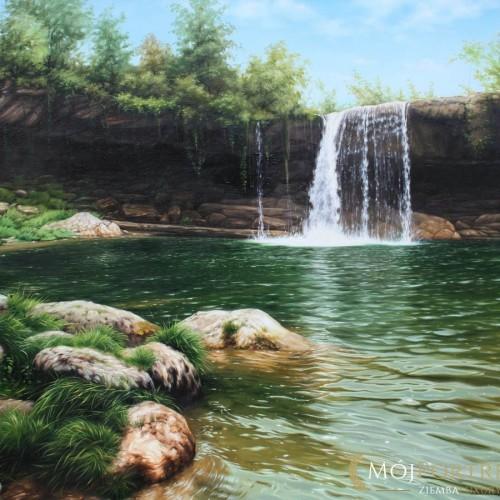 wodospad-pejzaz-obraz-olejny