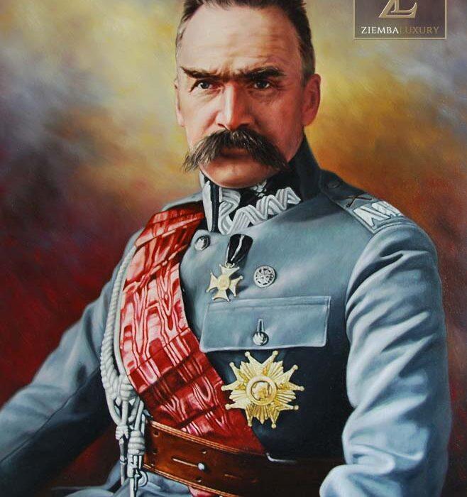 Józef Piłsudzki portret kolorowy