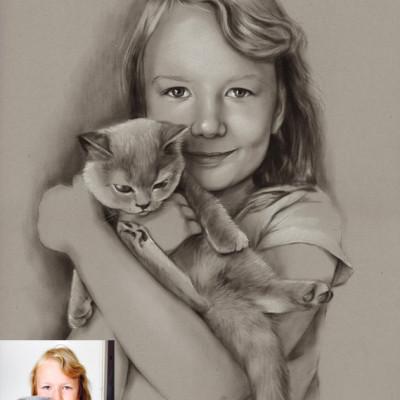 portret-dziewczynka-suchy-pedzel 60x40