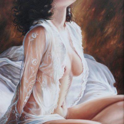 obraz olejny akt dziewczyna