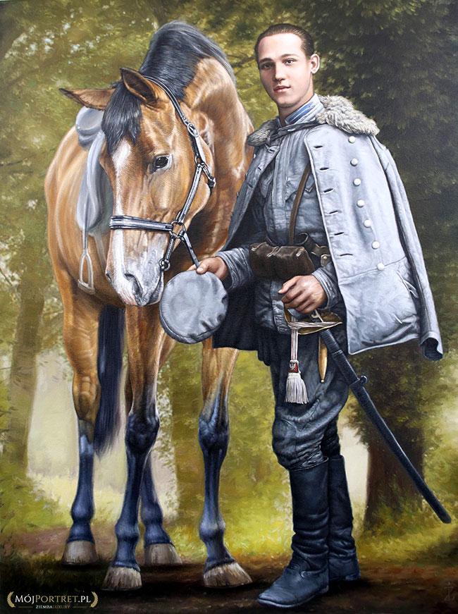 obraz olejny polski kapral I wojna światowa