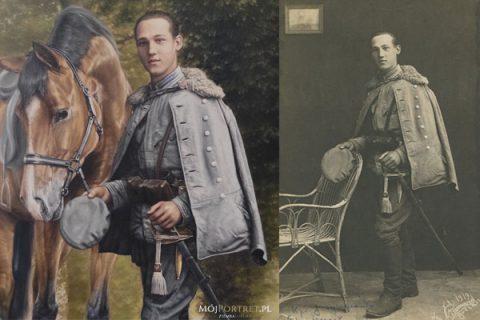 Kapral Julian Tyszkiewicz (1901-1985) w wojnie przeciw Bolszewikom (obraz historyczny)